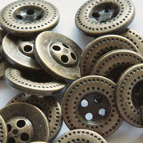 Fancy & Decorative {19mm w/ 4 Holes} 8 Pack of Medium Size Round