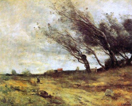 Jean-Baptiste-Camille Corot Windswept Landscape - 20.05