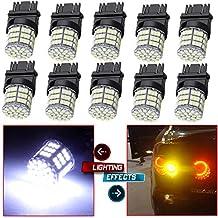 CCIYU 10 Pack White 3157 Epistar 6000K 3014 54-SMD LED Lights Bulbs For DRL Light Back up Reverse Light Brake Light Parking Light Tail Light R-turn Signal Light