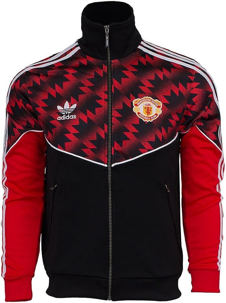 Adidas Mens Manchester United Track Top RedBlack S: Amazon