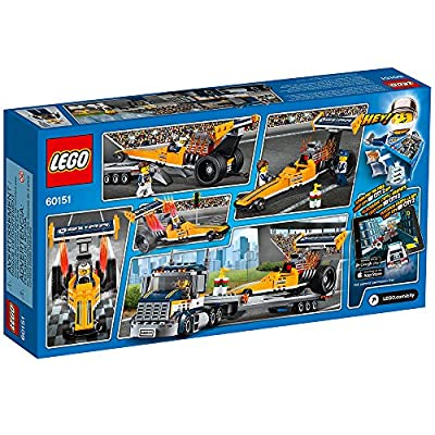 LEGO City Great Vehicles Dragster Transporter 60151: Toys & Games