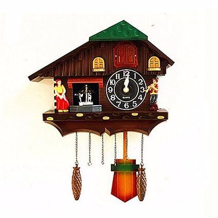 Reloj De Pared Reloj Cucu Reloj De Pared Reloj De Cuco Doll Jardin Salon Tiempo Real