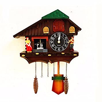 Reloj De Pared Reloj Cucu Reloj De Pared Reloj De Cuco Doll Jardin Salon Tiempo Real Watch Bird Creativo Cartoon Niños,A: Amazon.es: Hogar