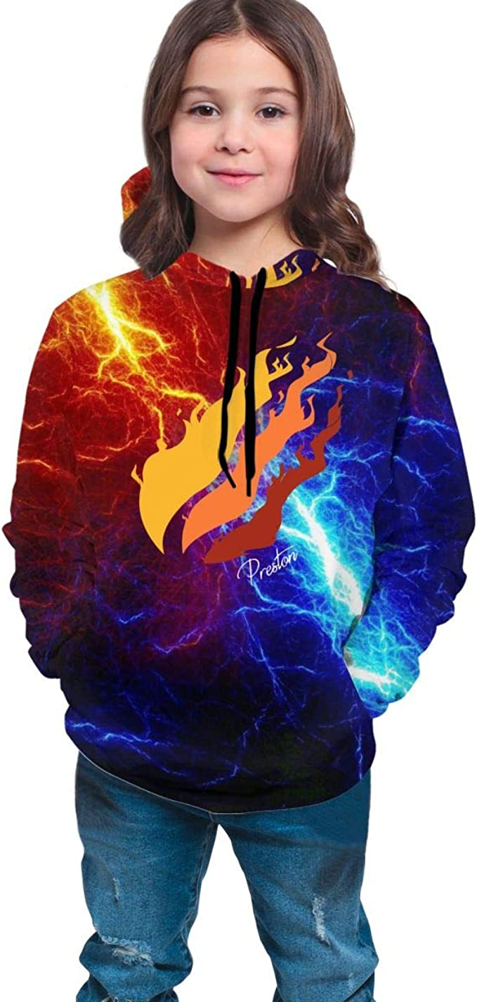 Muindancer Preston Playz Hoodie Nation Fire Sweater Youth Hoodies Sweater Hoody Fashion Pullover Sweatshirt for Boys//Girls