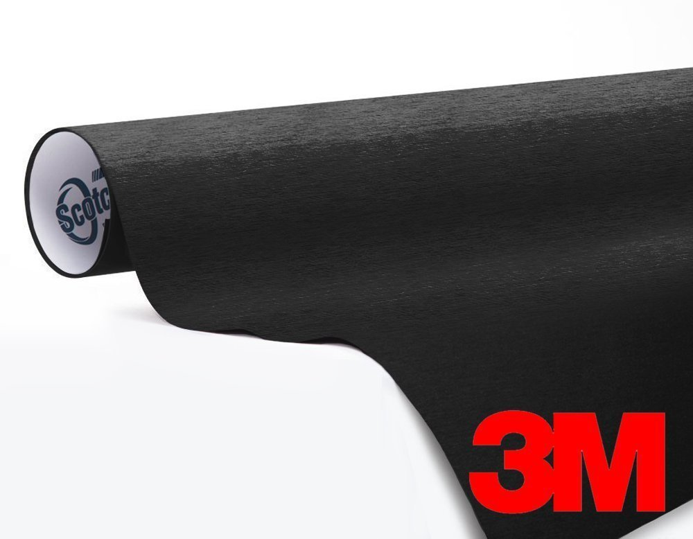 3M 1080 Brushed Black Metallic Air-Release Vinyl Wrap Roll (1/2ft x 5ft)
