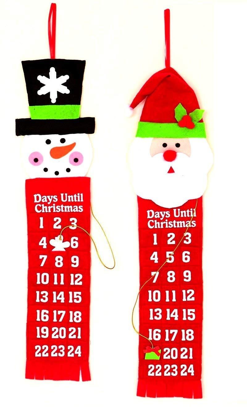 Feltro Natale Calendario Avvento con tasche per delizie premier PL141093