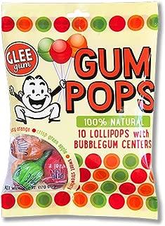product image for Glee Gum All Naturual Gum Lollipops, Gluten Free, Vegan, Kosher, Variety Pack of 10