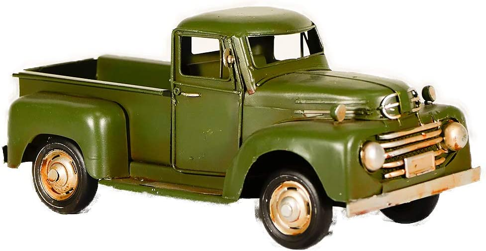 Retro car Desk model car Handmade truck Vintage Pickup Metal truck Office car Antique automobile Old pickup Retro home decor