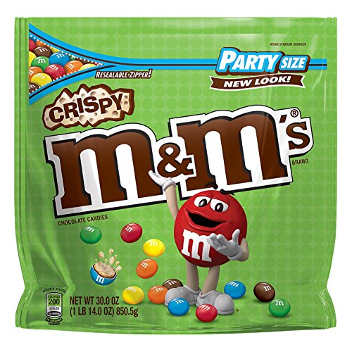 M&M'S Crispy Chocolate Candy Party Size 30-Ounce