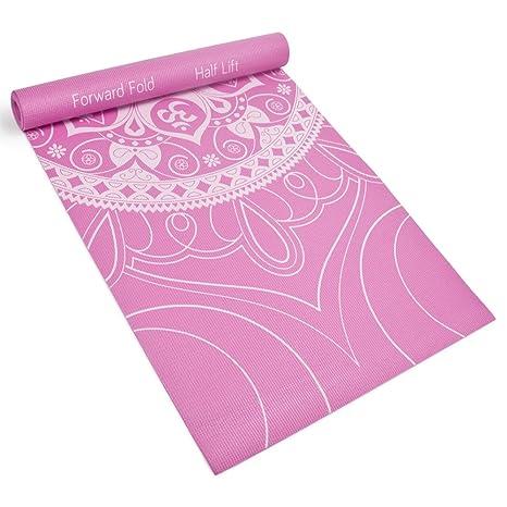 3mm (1/8) Chakra Art Premium Printed Yoga Mat with Basic Pose