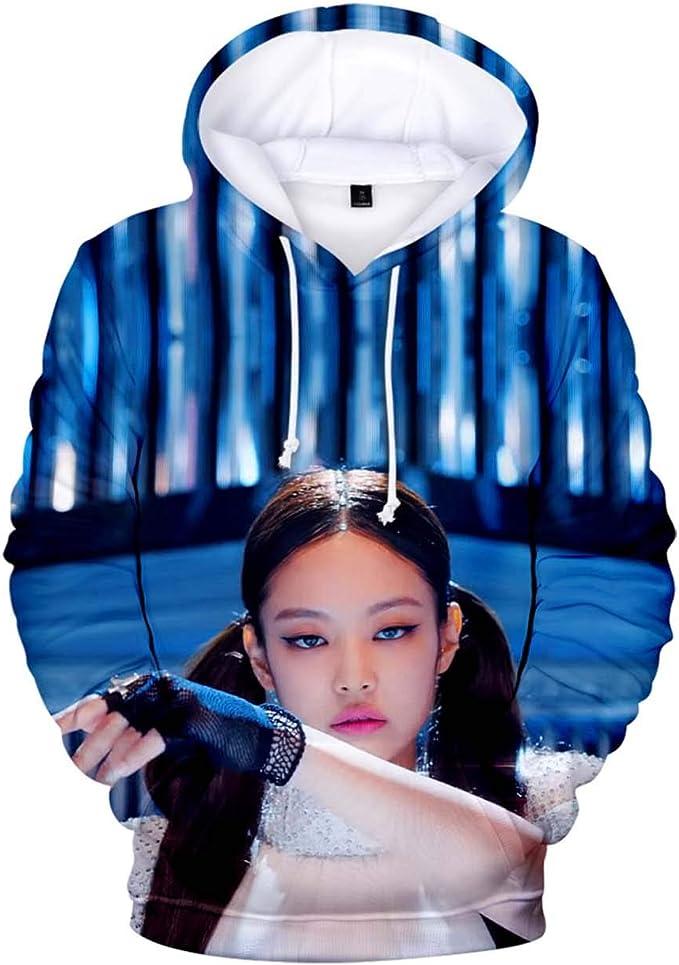 ZIGJOY Girls Group Zip-up Hoodie Hooded Sweater Sweatshirt Jumper Pullover Rose Jennie Jisoo Lisa for Fans