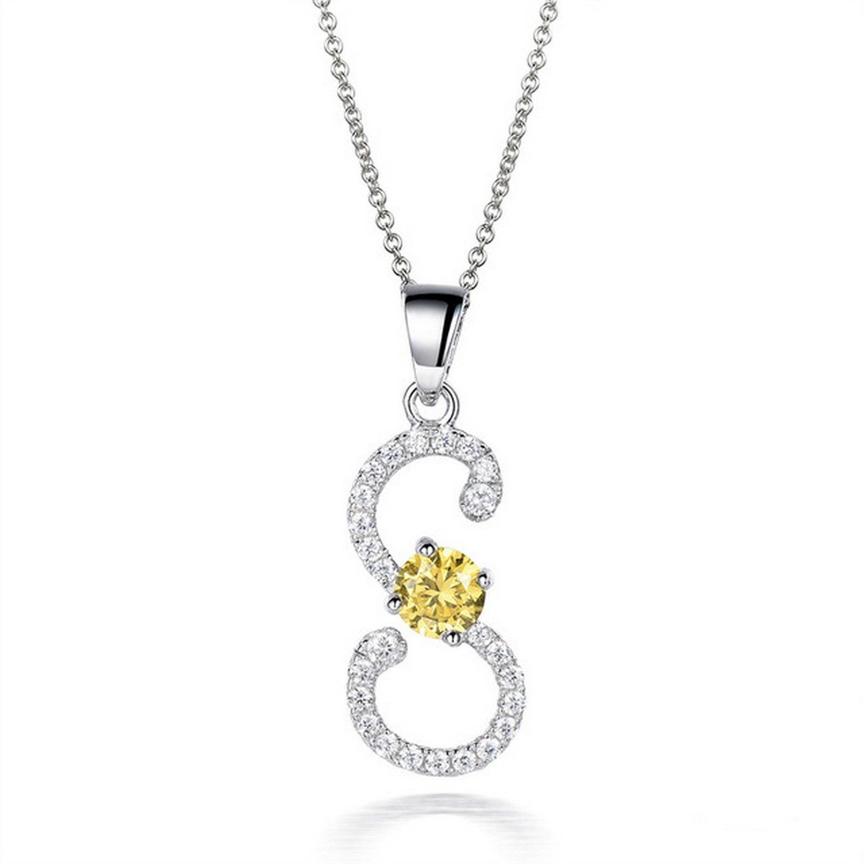 CS-DB Pendants 0.82ct Gemstones Charm S Silver Necklaces