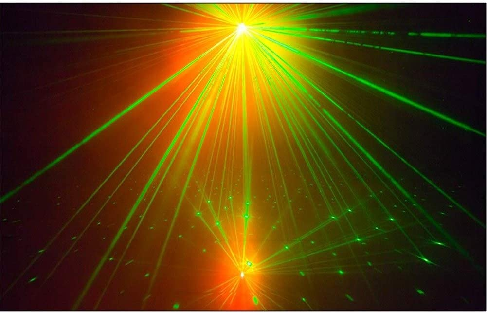 ZhanMa LED Disco DJ Party Laser Lights Black Mini Auto Flash 7 RG Color Stage Strobe Lights Sound Activated for Parties Room Show Birthday Party Wedding Dance Lighting with Remote Control