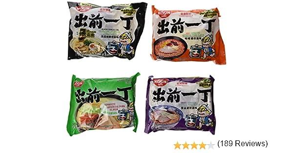Nissin Demae Ramen Variety Pack (Tonkotsu Series) (Pack of 16 with 4 Each Flavor): Amazon.es: Alimentación y bebidas