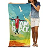 KINDO Cristiano Ronaldo CR7 I Am Back Beach Towel Bath Washcloth For Adults / 31.5