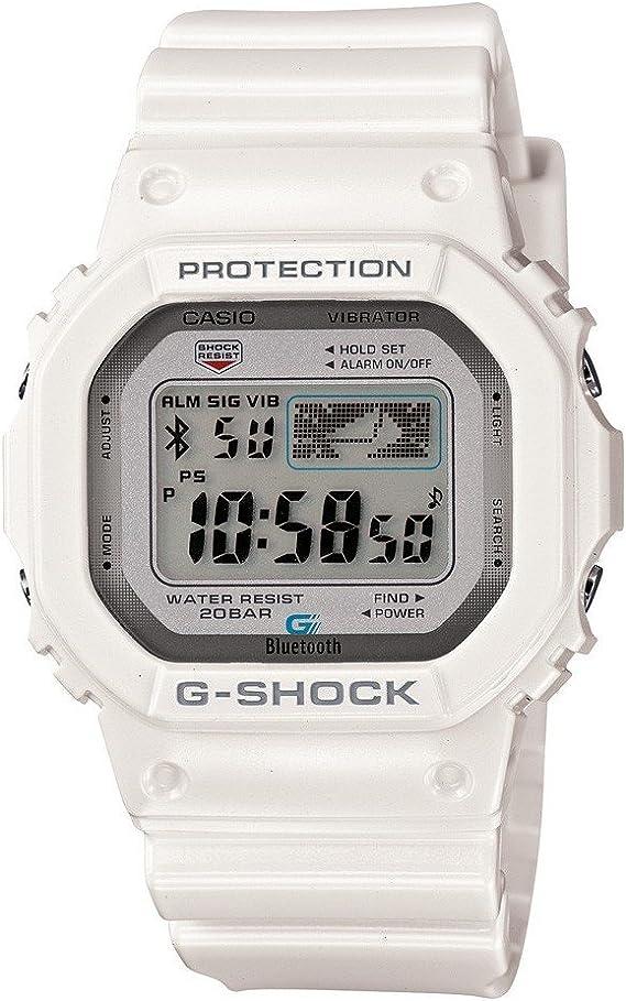 Montre Casio G Shock Bluetooth Blanche GB 5600AA 7ER: Amazon