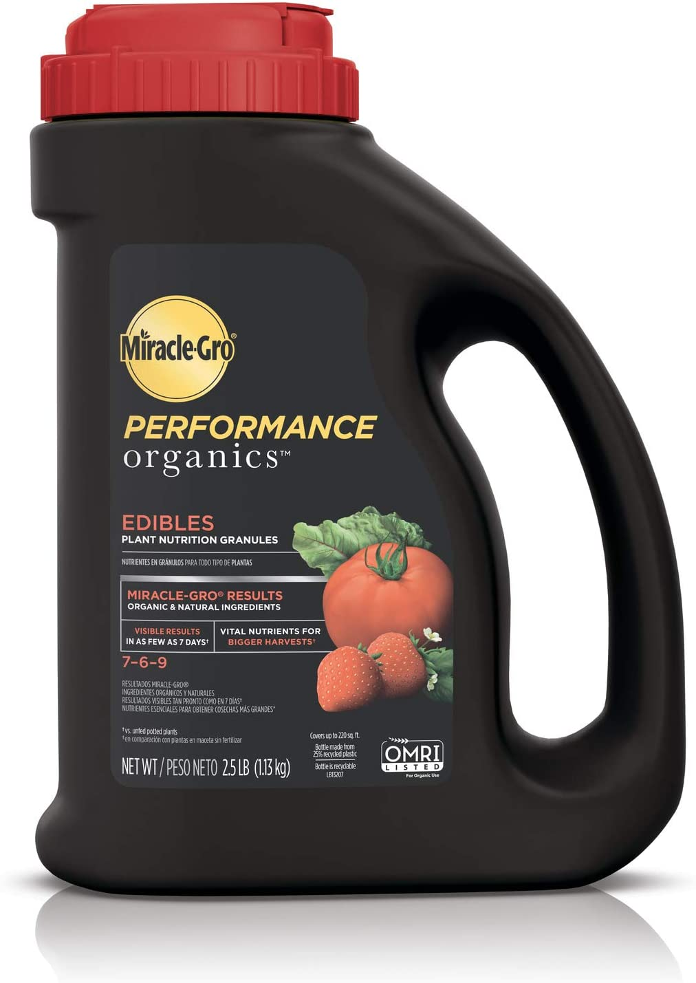 Miracle-Gro Performance Organics for Tomatoes, Vegetables, Herbs, and Fruits, 7-6-9