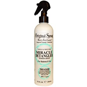 Original Sprout Miracle Detangler. All Natural Hair Moisturizer and Leave-In Conditioner Spray,12 oz