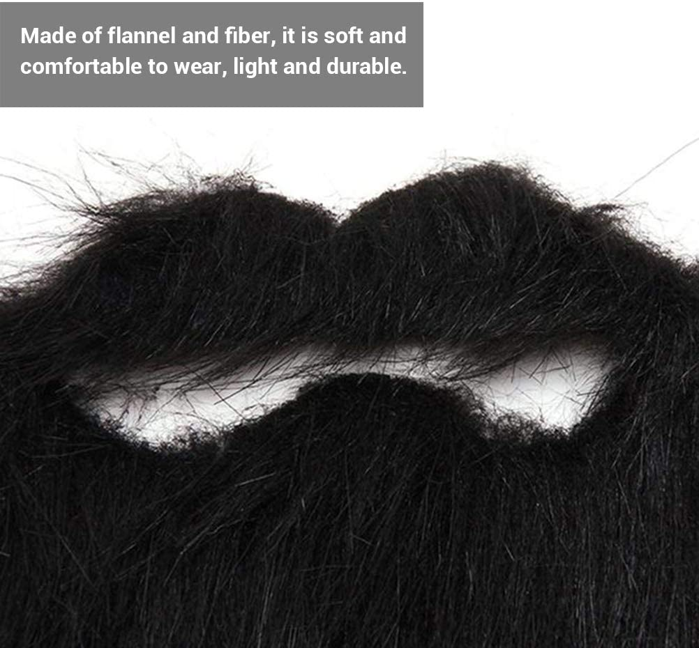 Uscyo Funny Costume Beard Fake Mustaches Halloween Funny Fake Mustache Whisker for Halloween Costume Party Supplies
