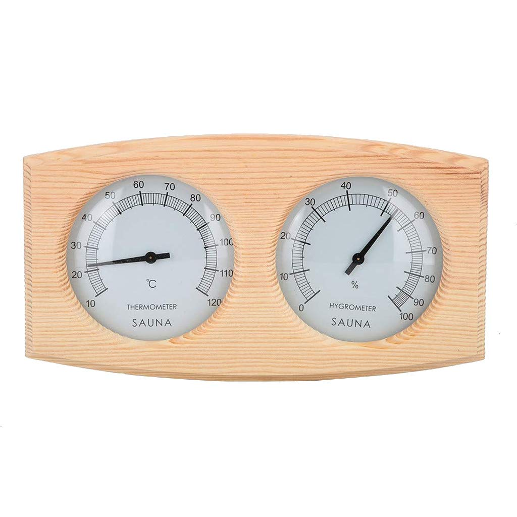 FiedFikt - Termómetro de Madera para Sauna (Doble Esfera ...