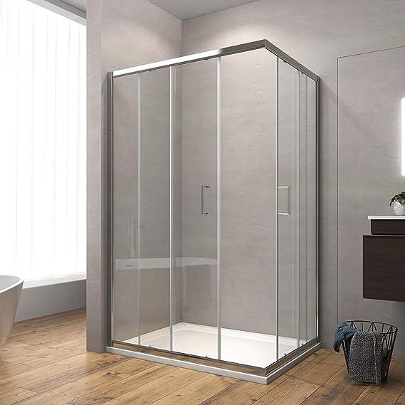 Cabina de ducha Safeni para esquina, puerta corredera, mampara de ...