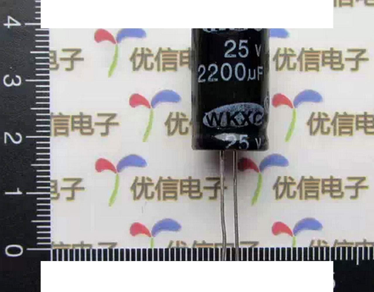 DIYElectronic 10 pcs Electrolytic Capacitors 2200UF 25V 13X21MM DIY Electronic Component Aluminum Electrolytic Capacitor
