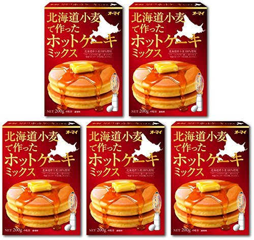 Oh my pancake mix five sets made in Hokkaido wheat