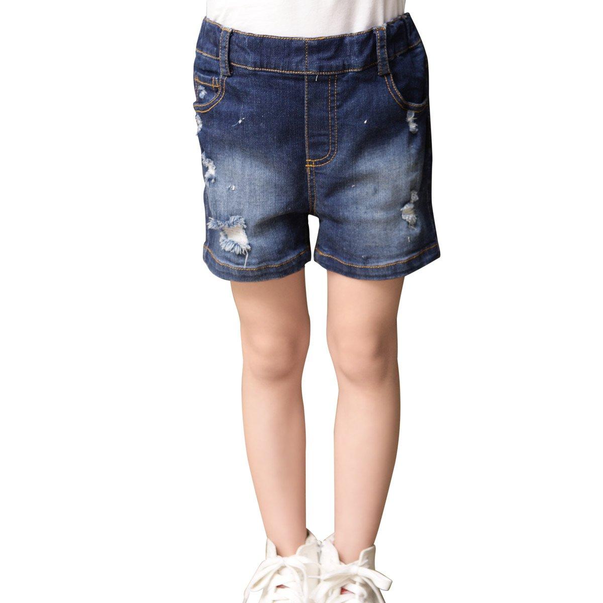 OnlyAngel Girls' Fashion Elastic Waist Summer Soft Denim Shorts 4-13 yrs (10-11 Years)