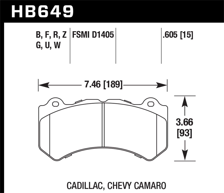 Hawk Performance HB649B.605 HPS 5.0 Disc Brake Pad