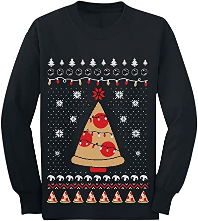 Tstars Pizza Ugly Christmas Sweater Xmas Pizza Tree Toddler//Kids Sweatshirt