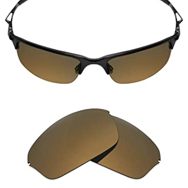 8f0c8df0570 MRY POLARIZED Replacement Lenses for Oakley Half Wire 2.0 Sunglasses -  Options (Standard Bronze Gold