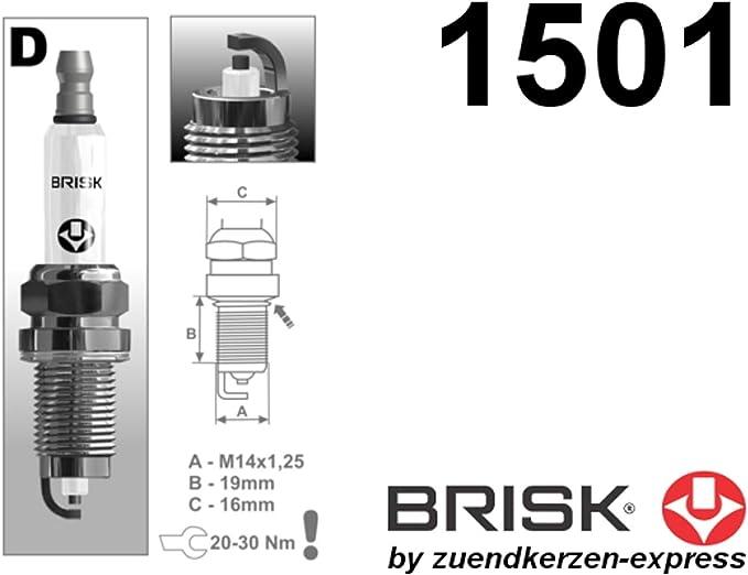 Brisk Extra Dox15le 1 1501 Zündkerzen 4 Stück Auto