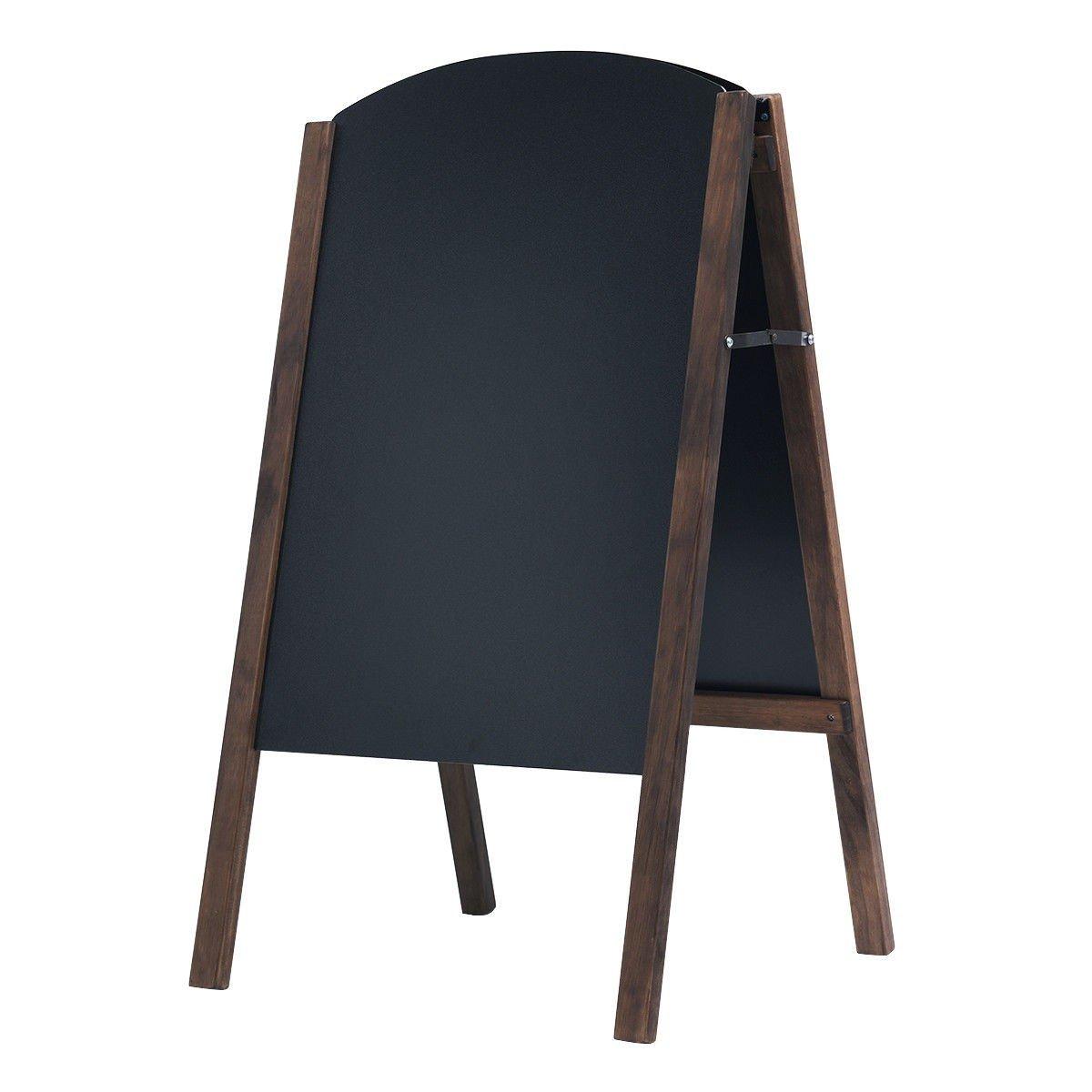 USA_BEST_SELLER 31.5'' Wood A-Frame Sidewalk Signage Chalkboard Rustic Magnets Wall Large Wood Frame Boards