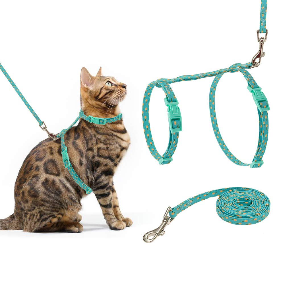 PUPTECK Cat Harness with Leash Set - Adjustable Soft Strap with Fashion Design by PUPTECK