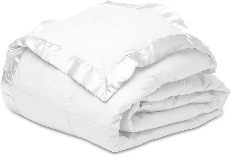 Melange Home Shell Down Alternative Microfiber Fill Cotton Blanket Twin White