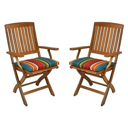 Amazon.com: Patio al aire última intervensión Cojín de silla ...