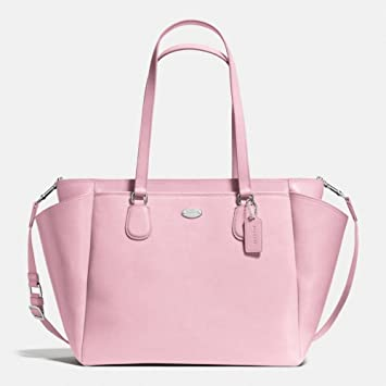 1608bed6c0d89 Amazon.com   Coach Crossgrain Signature Leather Large Pink Baby Diaper Bag  Tote Shoulder Bag 35702   Baby
