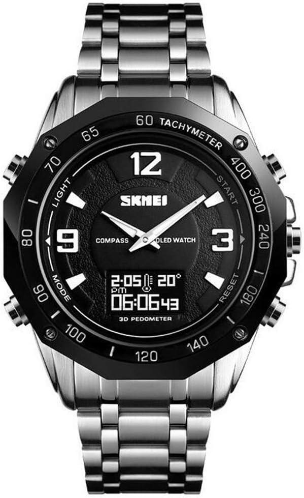 Reloj al aire libre con pantalla doble/reloj termómetro con brújula/reloj electrónico Sports Trend Student