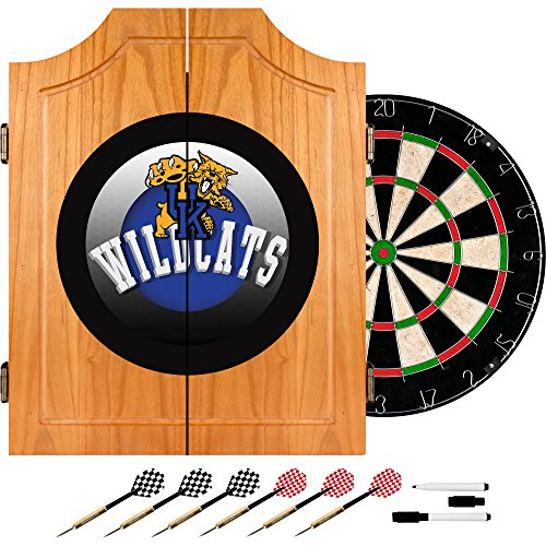 Trademark Gameroom University of Kentucky Wildcats Wood Dart Cabinet Set - Honeycomb by Trademark Gameroom