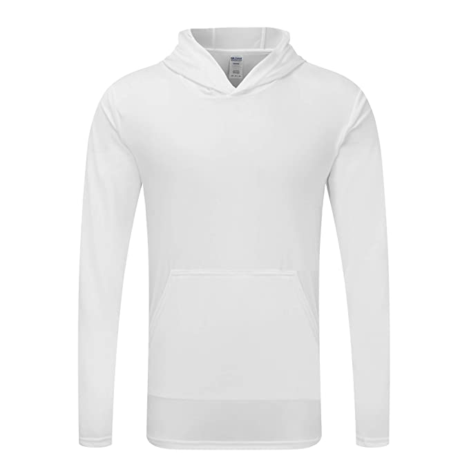 Gildan - Camiseta con Capucha Modelo Performance para Hombre (Mediana (M)/Blanco