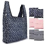 SODIAL Reusable Grocery Bags 6 Pack Heavy Duty Folding Shopping Tote Bag Washable Durable Lightweight Reusable Shopping Bags