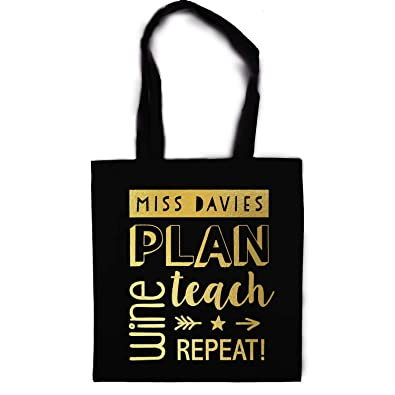 5e5d118b20 Personalised wine tote bag