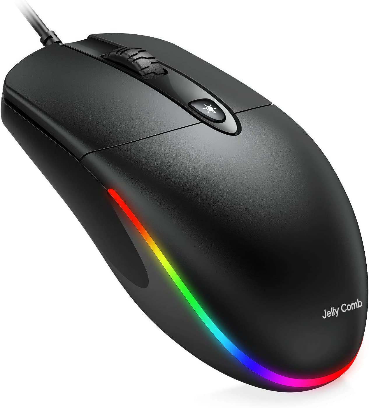 Jelly CombUSB Wired Mouse,RGB Optical SilentComputer Mouse,1600 DPI Office and Home Mice,for Windows PC, Laptop, Desktop, Notebook