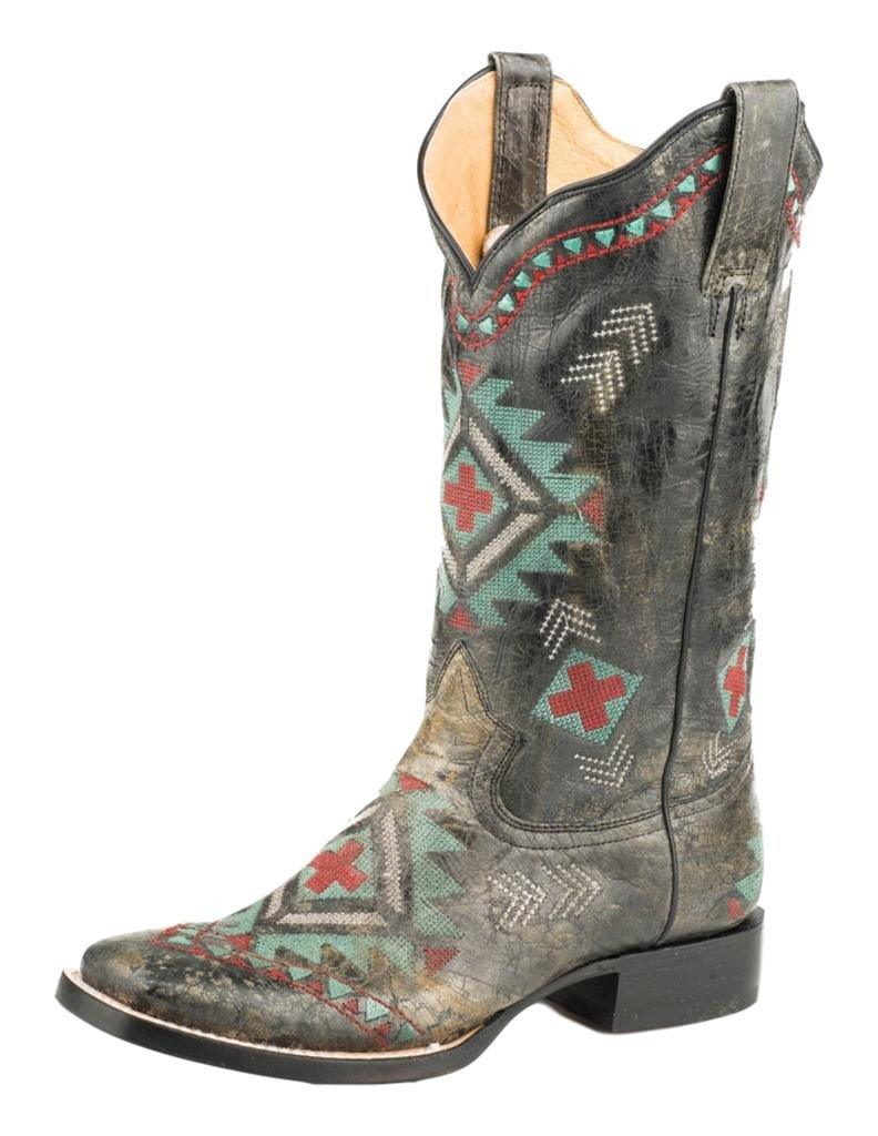 Roper Women's Mai Western Boot B076XLBTDD 6 B(M) US|Black/Black