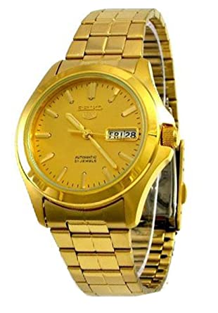 Amazon.com: Seiko Mens SNKK98 Stainless Steel Analog with Gold Dial Watch: Seiko: Watches