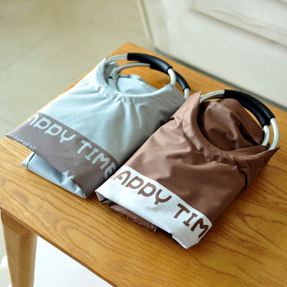 Panier à linge Grande Pliable Hamper avec poignée Pliable Sac de Rangement Laver Bin LINGZE Chocolate Color
