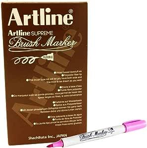 ,Artline FPE-F Supreme Brush Marker, Pink Colour, PACK OF 12