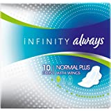 Always Infinity Serviettes Normal Plus avec ailettes x 10 - Lot de 2