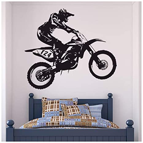 Vinilos Decorativos Motocross.Azutura Dirt Bike Trick Vinilos Moto De Motocross Pegatina Decorativos Pared Dormitorio De Los Muchachos Decoracion Disponible En 5 Tamanos Y 25