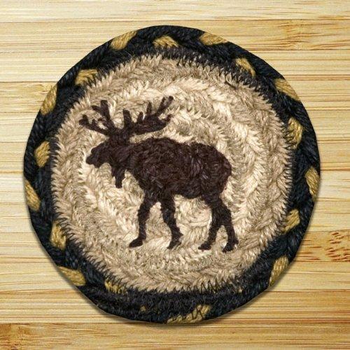 Earth Rugs 43 Moose Coasters, Set of 4 (Coaster Set Moose)